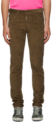 DSQUARED2 Beige Corduroy Cool Guy Trousers