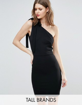 Oh My Love Tall One Shoulder Mini Dress $38 thestylecure.com