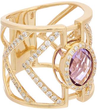 Effy Fine Jewelry 14K 2.71 Ct. Tw. Diamond & Amethyst Ring