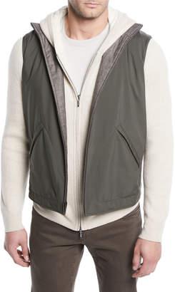 Loro Piana Men's Marlin Reversible Zip-Front Vest
