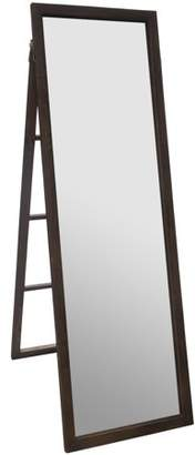"""Gallery Solutions 22"""" x 70"""" Classic Walnut Full Length Wood Ladder Standing Mirror with Easel"""