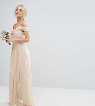 TFNC Petite Petite Wedding Cold Shoulder Embellished Maxi Dress