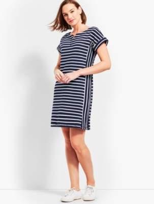 Talbots Mixed Stripe Tee Dress