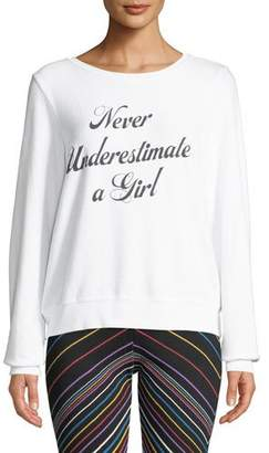 Wildfox Couture Never Underestimate A Girl Pullover Sweater