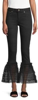 Tu es mon TRESOR Tulle Frill Flared Jeans