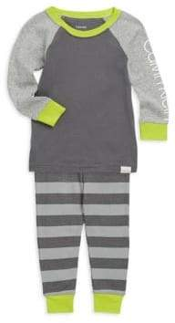 Calvin Klein Little Boy's& Boy's Two-Piece Logo Cotton Pajama Set