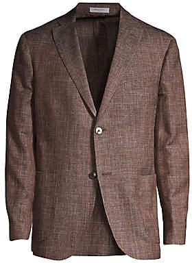 Boglioli Men's Virgin Wool-Blend Melange Jacket