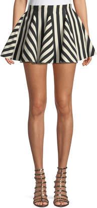 Valentino Re-Edition Organza Stripes Short Skirt