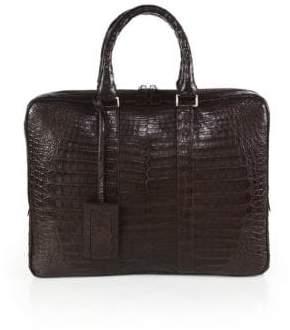 Santiago Gonzalez Crocodile Slim Briefcase