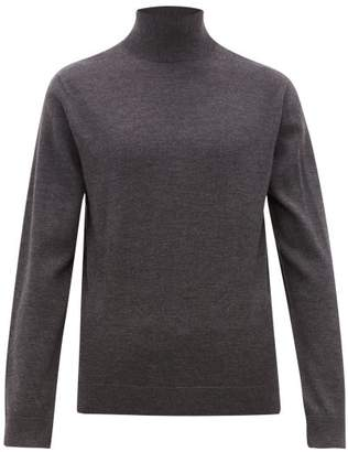 A.P.C. Glen Roll Neck Wool Jumper - Mens - Grey