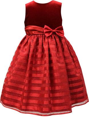 Jayne Copeland Velvet Shadow-Stripe Special Occasion Dress, Big Girls (7-16) $94.99 thestylecure.com