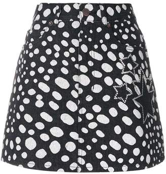 Marc Jacobs star embellished spotted mini skirt