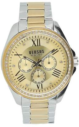 Versace Women's Elmont Swarovski Crystal Accent Two-Tone Bracelet Watch, 40mm