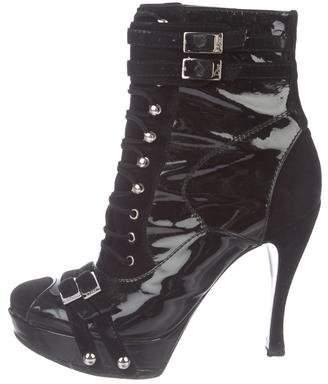Christian Dior Round-Toe Platform Boots
