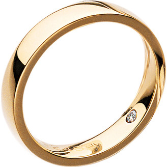 Chaumet Plume 18ct yellow-gold secret diamond wedding band