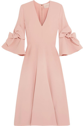 Roksanda - Sibella Bow-detailed Crepe Midi Dress - Blush $1,665 thestylecure.com