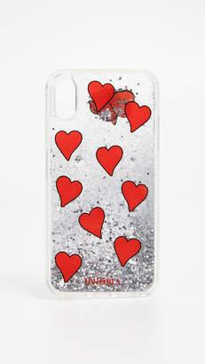 Iphoria Transparent Floating Hearts iPhone X Case