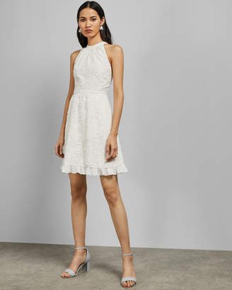 Ted Baker LORENE Halterneck skater embroidered dress