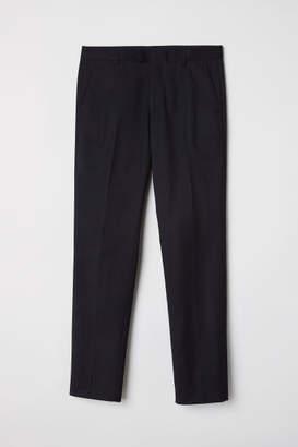 H&M Suit Pants Slim fit - Black