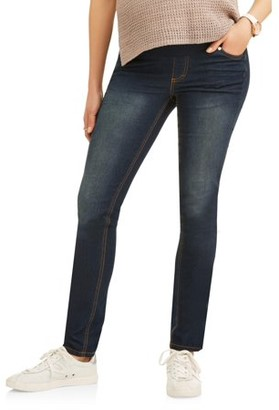 Oh! Mamma Demi-Panel Super Soft Skinny Maternity Jeans -- Available in Plus Sizes