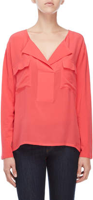 Gerard Darel Spread Neck Blouse