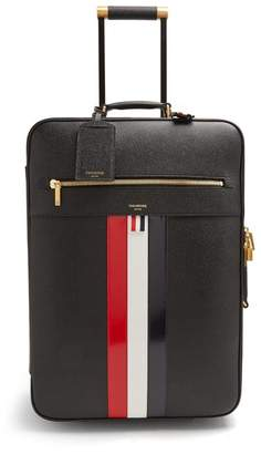 Thom Browne Pebbled Leather Cabin Suitcase - Mens - Black