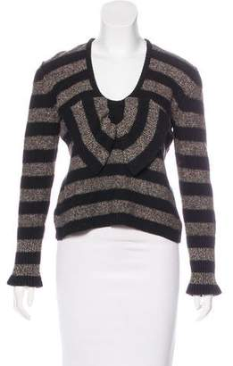 Sonia Rykiel Bow-Accented Striped Sweater