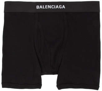 Balenciaga Three-Pack Black Logo Boxer Briefs