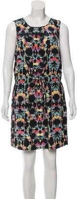 Tibi Silk Abstract Print Dress