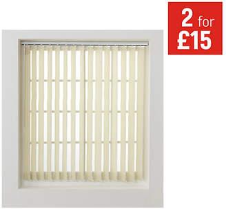 Argos Home Vertical Blind Slats Pack - 4.5ft - Cream