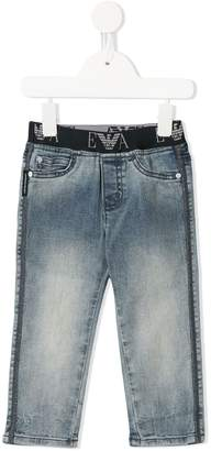 Emporio Armani Kids elasticated waist jeans