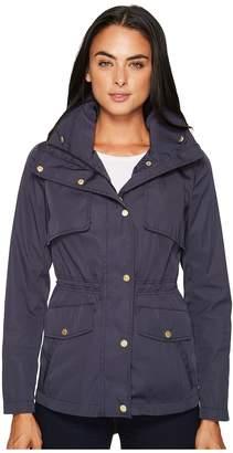 Cole Haan Zip Front Jacket w/ Placket Snaps Women's Coat