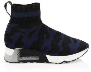 Ash Camo Printed Sock Sneakers