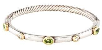 David Yurman Peridot & Diamond Bracelet