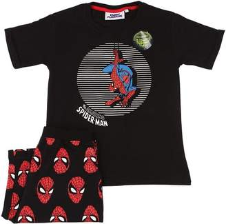 Spiderman Fabric Flavours Print Cotton T-Shirt & Shorts
