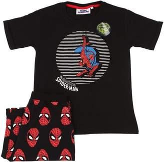 Spiderman Print Cotton T-Shirt & Shorts