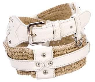 Prada Jute & Leather Hip Belt