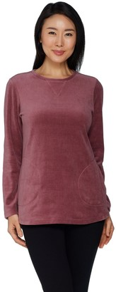 Denim & Co. Active Petite Velour Tunic