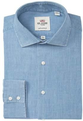 Ben Sherman Light Blue Denim Tailored Slim Fit Shirt