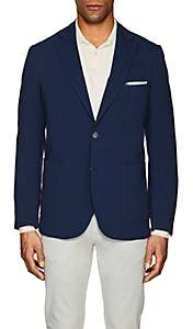 Piattelli MEN'S COTTON JERSEY TWO-BUTTON SPORTCOAT-NAVY SIZE 46