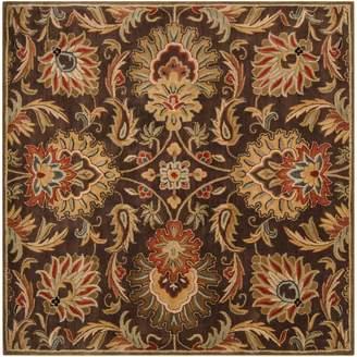 Surya Caesar Black Floral Rug - 6' Square