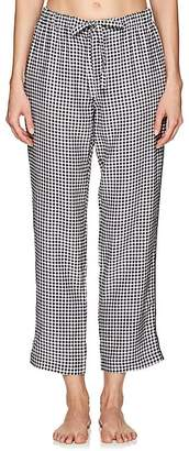 Sleepy Jones Women's Marina Gingham Silk Pajama Pants