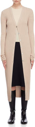 Jil Sander Ribbed Button Duster Cardigan