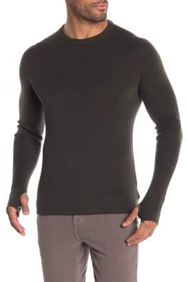 Theory Ribbed Trim Wool Sweater