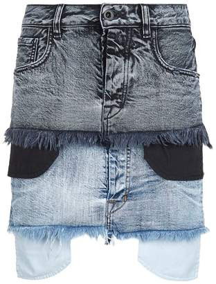Unravel Potassium Denim Double Denim Skirt