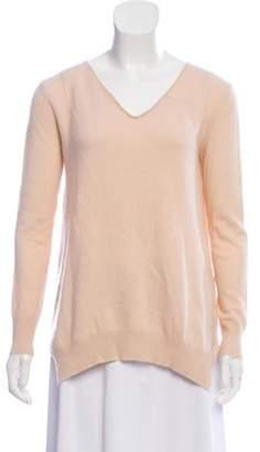 360 Cashmere Cashmere V-Neck Sweater Pink Cashmere V-Neck Sweater