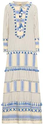 Dodo Bar Or Embroidered cotton maxi dress