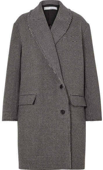 Quip Houndstooth Wool Coat - Black