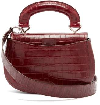 Lemaire Pumpkin Crocodile Effect Leather Bag - Womens - Burgundy