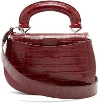 Lemaire - Pumpkin Crocodile Effect Leather Bag - Womens - Burgundy